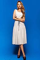 Летнее женское белое  платье Юнти Jadone Fashion 42-48 размеры