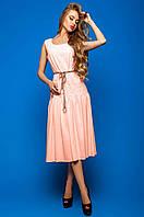 Летнее женское персиковое платье Юнти Jadone Fashion 42-48 размеры