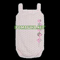 Детский боди-майка р. 74 ткань КУЛИР 100% тонкий хлопок ТМ Малина 3677 Розовый