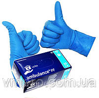 """Перчатки медицинские """"Ambulance"""",размер M, не стерильные, диагностические, смотровые, латексные перчатки"""