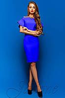 Шикарное женское платье-футляр Пирелли электрик Jadone Fashion 42-48 размеры