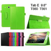 Чехол книжка на Samsung Galaxy Tab E 9.6 SM-T560 T561 TTX Leather Book Green (Зеленый)