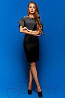 Шикарное женское черное платье-футляр Пирелли Jadone Fashion 42-48 размеры