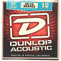Струны Dunlop DAB1254 Acoustic Guitar Brass Wound 12/54,