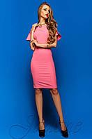Шикарное женское  платье-футляр Пирелли фуксия Jadone Fashion 42-48 размеры