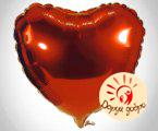 №10 Сердце из фольги с гелием 45 см Днепр