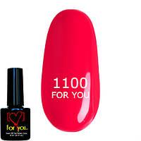 Гель лак для ногтей FOR YOU № 1100 Яркий Розовый, эмаль