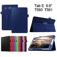 Чехол книжка на Samsung Galaxy Tab E 9.6 SM-T560 T561 TTX Leather Book Dark blue (Синий)
