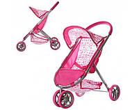 Игрушечная коляска для куклы 9675 прогулочная, железная, корзина
