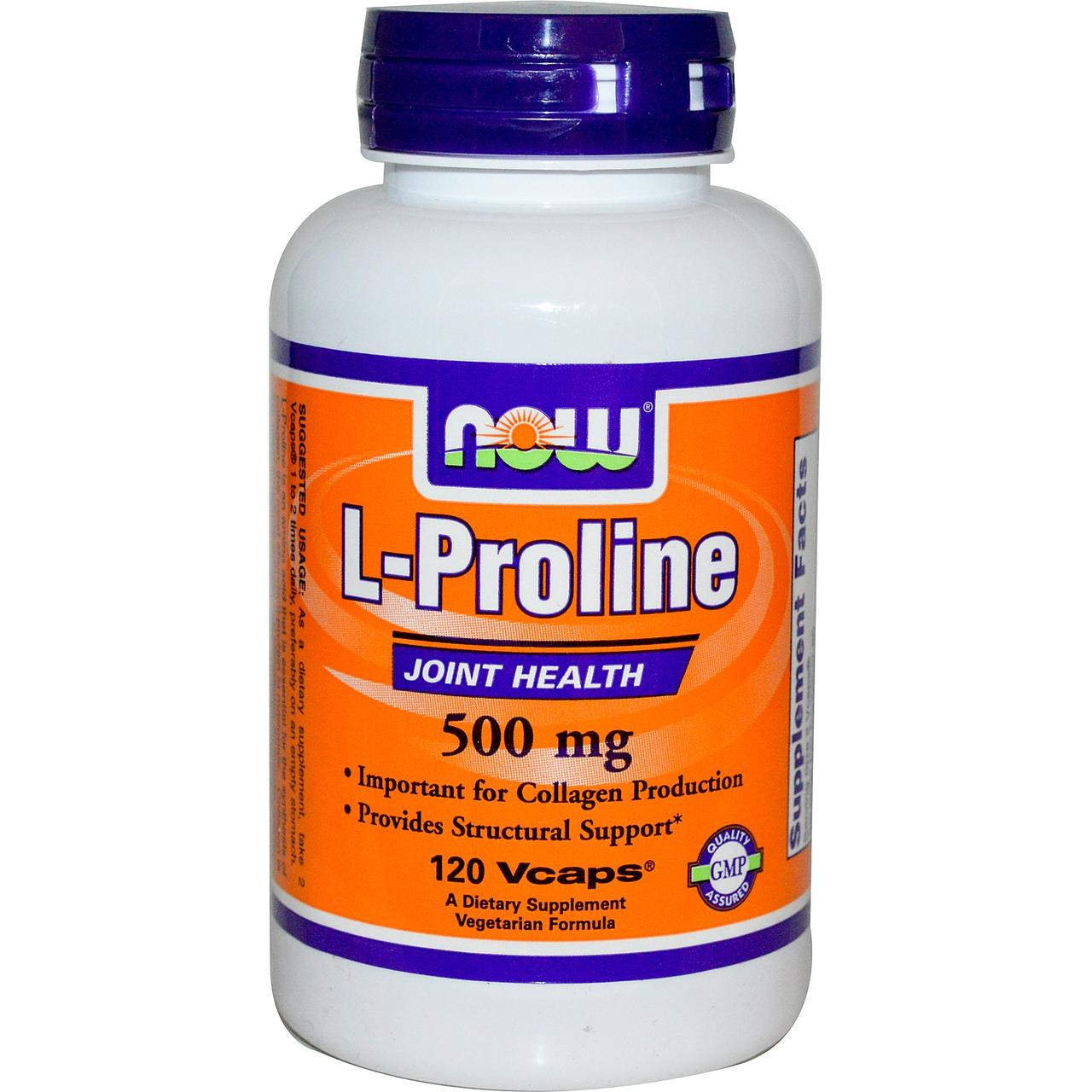 NOW Foods L-Proline 500mg 120 caps