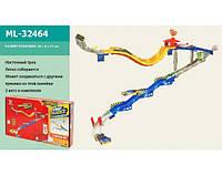 Трек ML 32464 настенный, машинка 7см 2шт, в кор-ке,50-30,5-7,5см