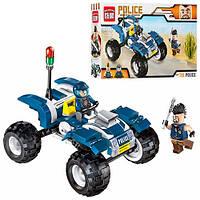 Детский конструктор BRICK / БРИК 1908 полиция, квадроцикл, фигурки, 139 деталей (аналог лего / lego)
