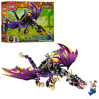 Детский конструктор BRICK / БРИК 1306 пираты, дракон, фигурки, 247 деталей (аналог лего / lego)
