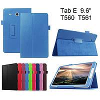 Чехол книжка на Samsung Galaxy Tab E 9.6 SM-T560 T561 TTX Leather Book Light Blue (Голубой)