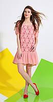 Платье La Kona-1017 белорусский трикотаж, персик, 42