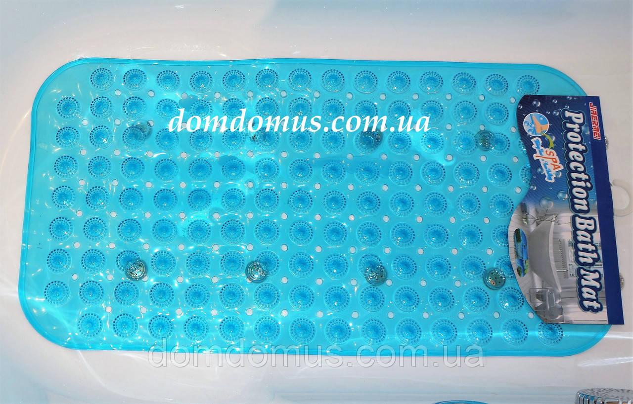 Коврик для ванной антискользящий, массажный прозрачный 65*35 см