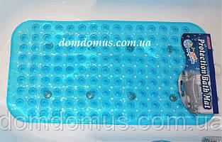 Антиковзаючий килимок для ванної, масажний прозорий 65*35 см