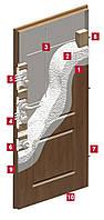 Входная бронированная дверь для квартиры Gerda WD Standard