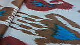 Шелковая ткань ручного ткачества. Узбекистан, фото 3