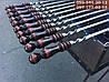 Подарочный набор шампуров с деревянными (янтарными) ручками