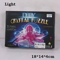 """Пазлы 3D- кристалл 29023A """"Осьминог"""" батар.,свет., 26дет, 2цвета, в кор. 18*14*4см"""