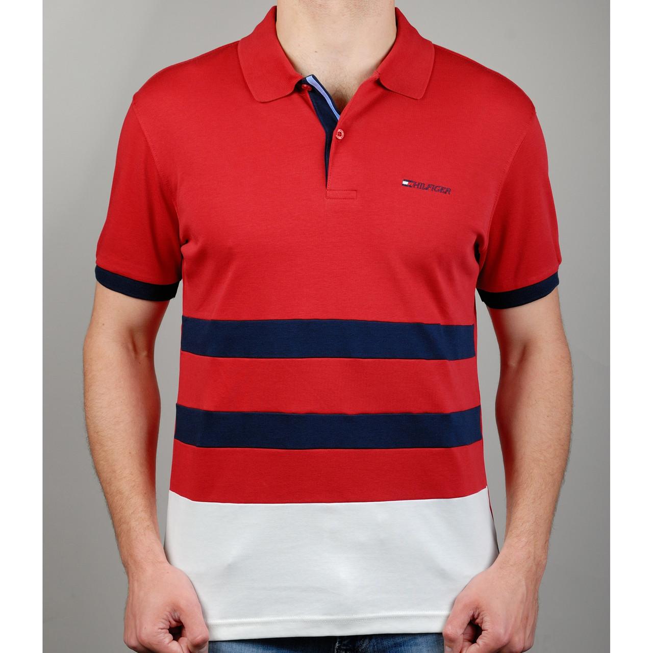 Мужская футболка поло TOMMY HILFIGER 20869 красная - Брендовая одежда от  интернет-магазина «Trendy 4f28937d19199