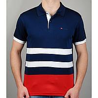 Мужская футболка поло TOMMY HILFIGER 20870 темно-синяя