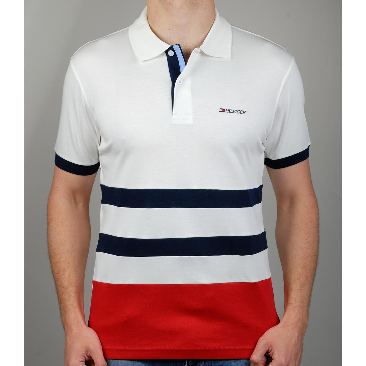 Мужская футболка поло TOMMY HILFIGER 20871 бежевая - купить по ... 6b2b8fa983cee