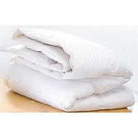 Одеяло летнее стеганое белое микрофибра 150*210 см
