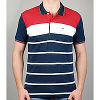 Мужская футболка поло TOMMY HILFIGER 20872 темно-синяя