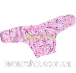 Сорочечка для новонароджених 100% бавовна 56, 62 р-н, рожева