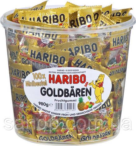 Желейные конфеты Золотые Мишки Харибо Haribo 980 гр 100 шт, фото 2