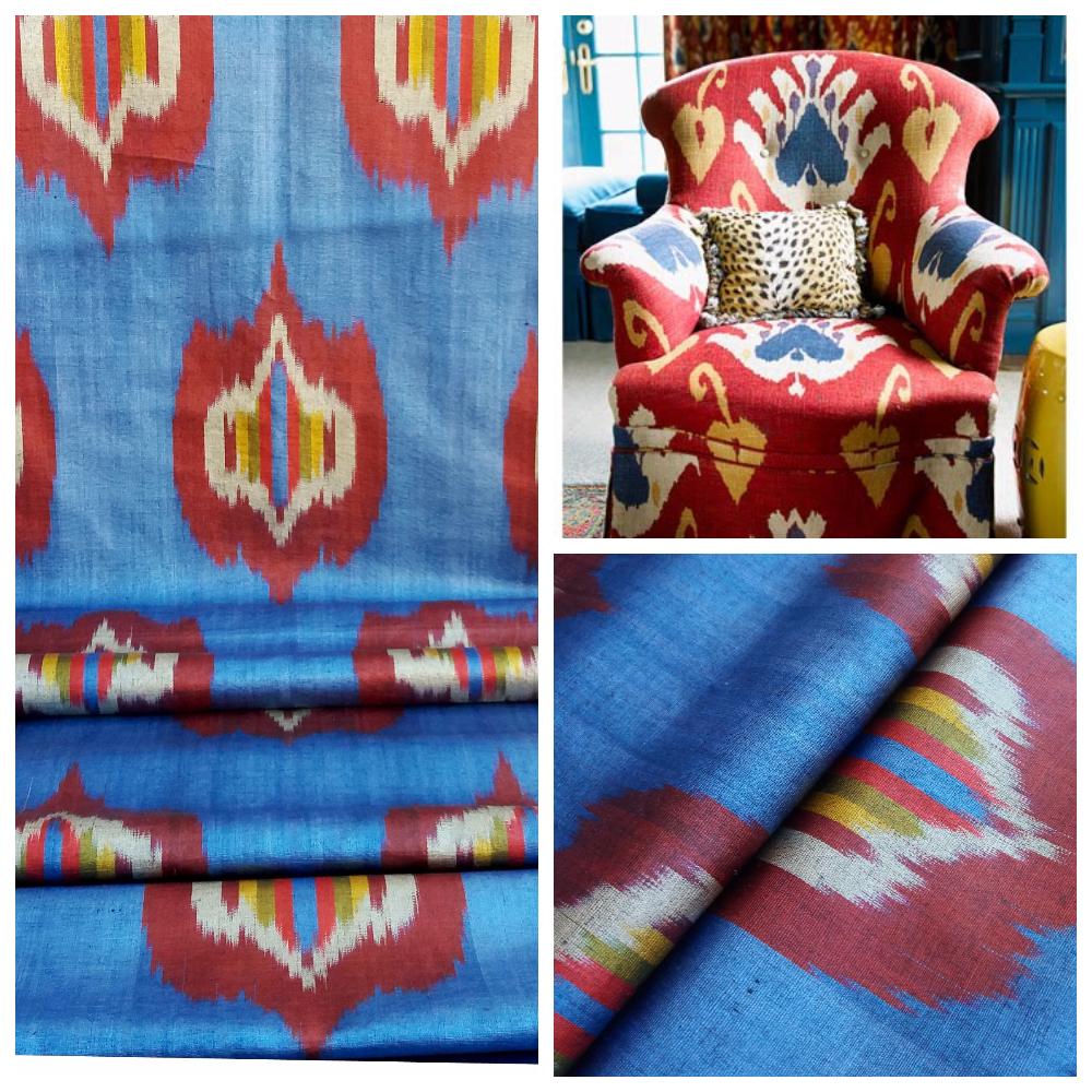 """Шелковая ткань """"Икат"""" ручного ткачества. Узбекистан"""