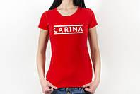 Женская  футболка с именем на заказ