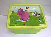 Ящик для игрушек Hippo 24 литра Keeeper