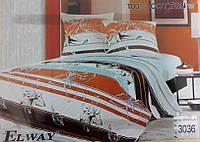 Сатиновое постельное белье полуторка ELWAY 3036