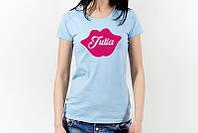 Женские именные футболки на заказ