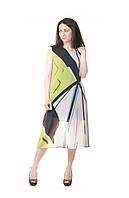 Платье коктейльное с геометрическим рисунком