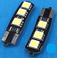 Светодиодные лампочки Т10 для автомобиля W5W 6 smd с обманкой