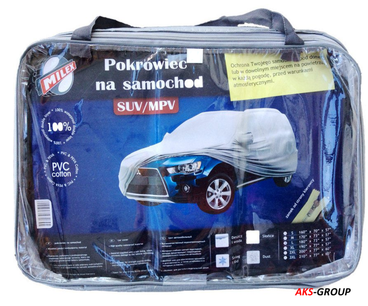 Тент для джипа, минивэна Milex Jeep ХХХL (подкладка, зеркало, замок) PEVA+PP Cotton