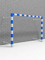 Ворота для минифутбола и гандбола пристенные разборные с полосами
