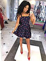 """Приталенное летнее платье на бретельках """"Milena"""" с расклешенной юбкой (3 цвета)"""