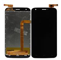 Оригинальный дисплей (модуль) + тачскрин (сенсор) для Doogee Valencia 2 Y100 | Y100 Pro (черный цвет)