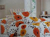 Сатиновое постельное белье евро ELWAY 3713