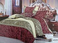 Сатиновое постельное белье евро ELWAY 4025