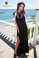 Женское модное платье  софт + кружево  КВ472
