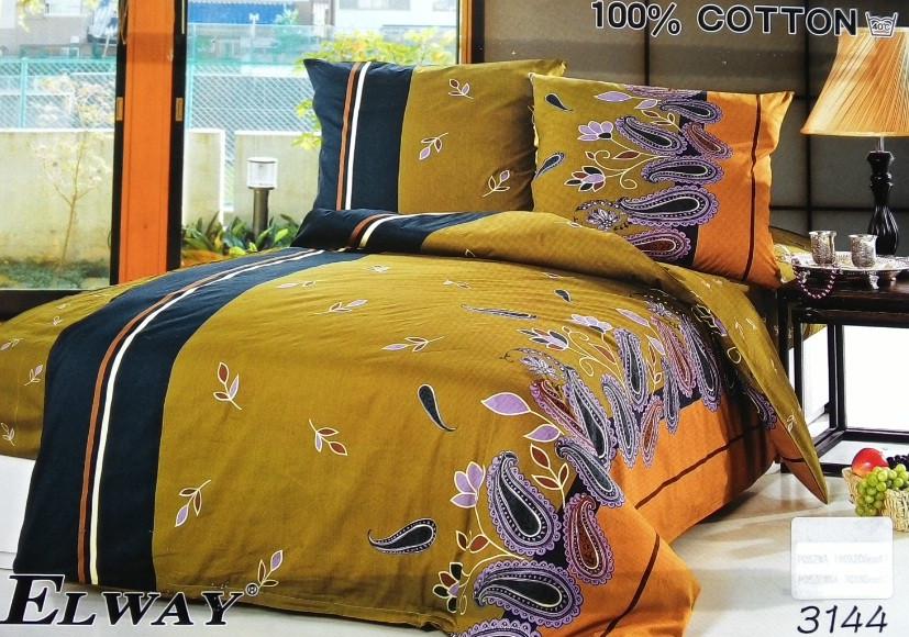 Сатиновое постельное белье семейное ELWAY 3144