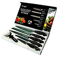 Набор ножей с мраморным покрытием (6 предметов), ножи из нержавеющей стали, фото 1