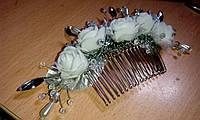 """Гребень в волосы """"Розы в самоцветах 2"""""""