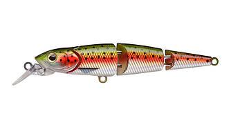 Воблер Strike Pro Flying Fish Joint 90 тонущий трехсоставной 9см 12гр Загл. 0,7-1,7м#71
